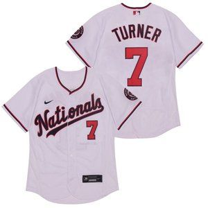 Washington Nationals Trea Turner White Jersey